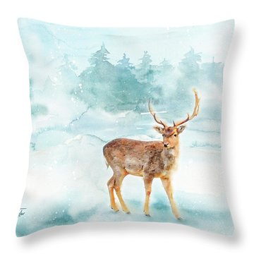 Throw Pillow featuring the painting The Magic Of Winter  by Colleen Taylor