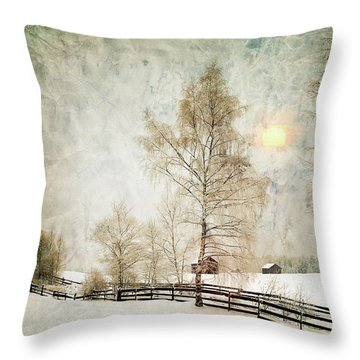 The Magic Of Winter Throw Pillow