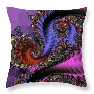 The Magic Triapus Throw Pillow