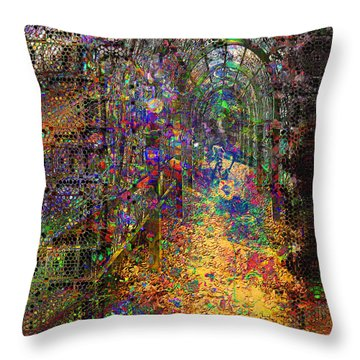 The Magic Tunnel Throw Pillow by Mimulux patricia no No