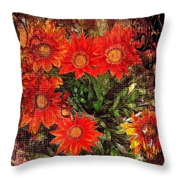 The Magical Flower Garden Throw Pillow