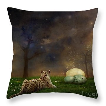 The Magical Of Life Throw Pillow by Martine Roch
