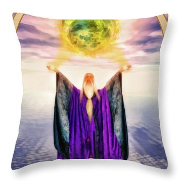 The Magician Throw Pillow by John Edwards