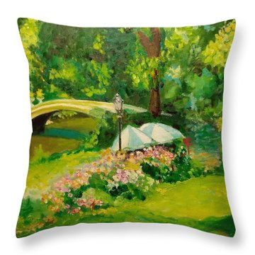The Magnificent Bow Bridge Throw Pillow
