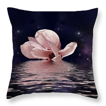 The Magnolias Throw Pillow by Julie Rodriguez Jones