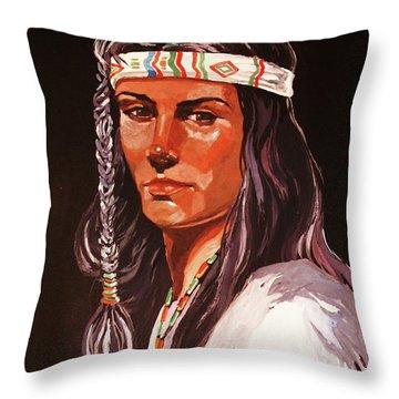 The Maiden IIi Throw Pillow