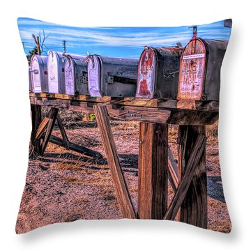 The Mailboxes Throw Pillow