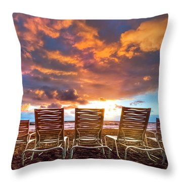 The Main Event Throw Pillow by Debra and Dave Vanderlaan