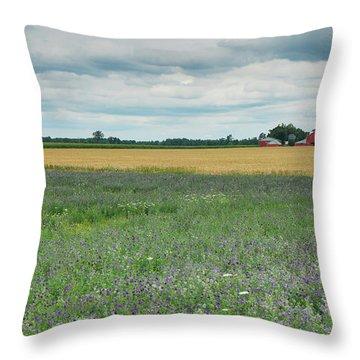 Farming Landscape Throw Pillow