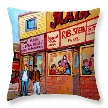 The Main Steakhouse On St. Lawrence Throw Pillow by Carole Spandau