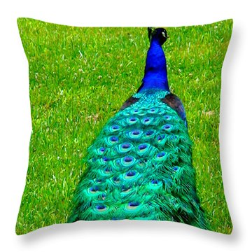 The Majestic Tail Throw Pillow