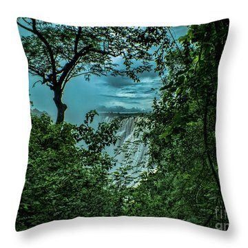 The Majestic Victoria Falls Throw Pillow by Karen Lewis
