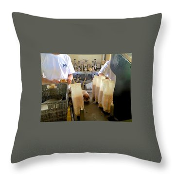 Throw Pillow featuring the photograph The Making Of A Puka Dog by Brenda Pressnall