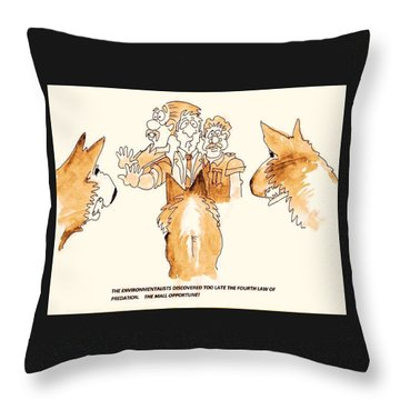 The Mall Opportune Throw Pillow