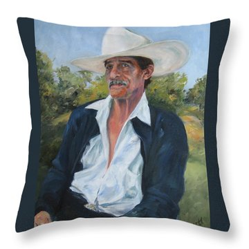 The Man From The Valley Throw Pillow by Connie Schaertl