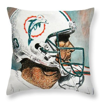 The Man Throw Pillow by Maria Arango