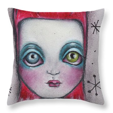 The Man Who Fell To Earth Throw Pillow by Abril Andrade Griffith