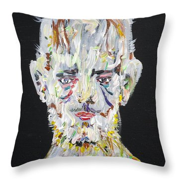 Throw Pillow featuring the painting The Man Who Tried To Become A Mountain by Fabrizio Cassetta