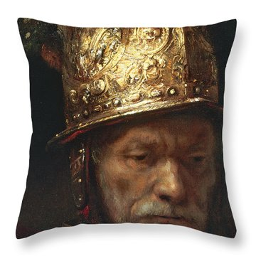 The Man With The Golden Helmet Throw Pillow