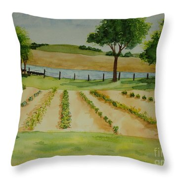 The Mangan Farm  Throw Pillow