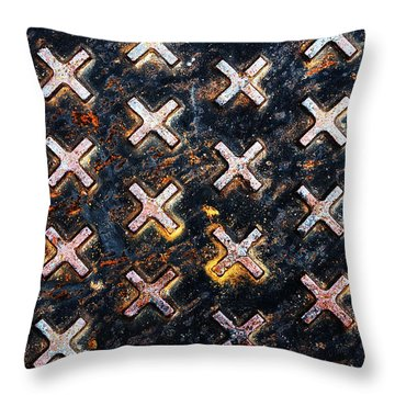 The Manhole Throw Pillow
