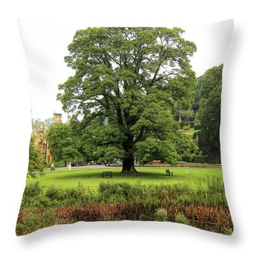 Throw Pillow featuring the photograph The Manor Castle Combe by Michael Hope