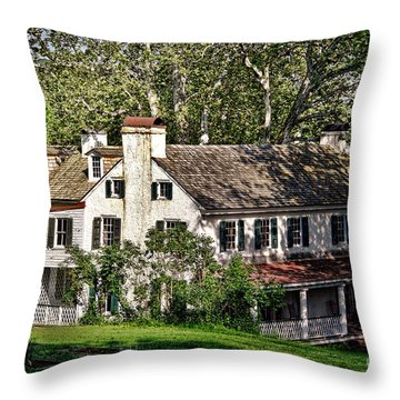 The Mansion At Hopewell Furnace Throw Pillow