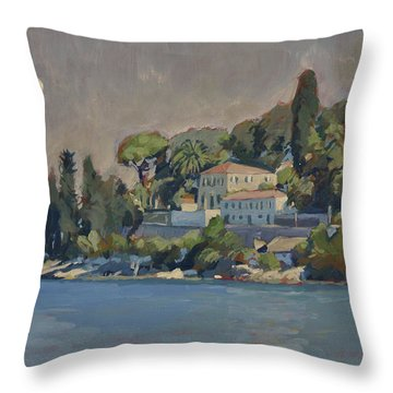 The Mansion House Paxos Throw Pillow