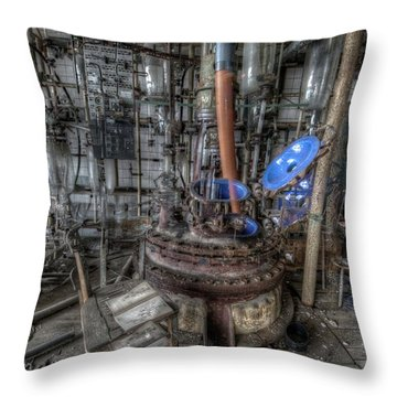 Throw Pillow featuring the digital art The Manual  by Nathan Wright