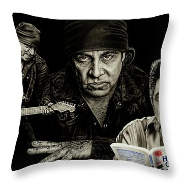 The Many Faces Of Lil Steven Throw Pillow by Dan Menta