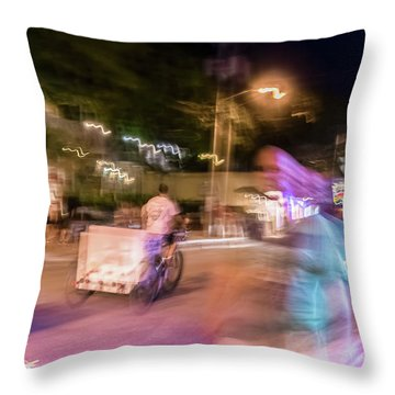 The Many Moods Of Duval Street Throw Pillow