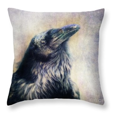 The Many Shades Of Black Throw Pillow by Priska Wettstein