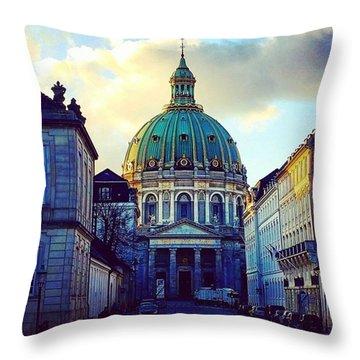 The Marble Church Copenhagen Throw Pillow