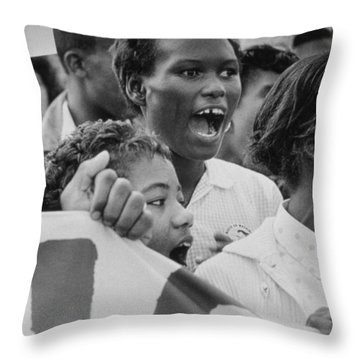 The March On Washington   A Group From Detroit Throw Pillow
