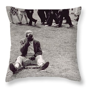 The March On Washington   Beginning The March Throw Pillow