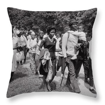 The March On Washington  Freedom Walkers Throw Pillow