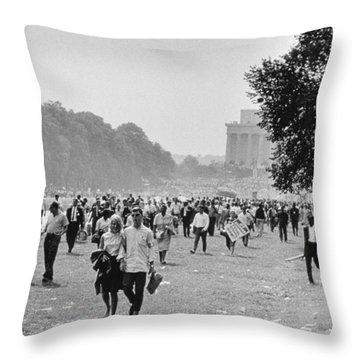 The March On Washington  Heading Home Throw Pillow