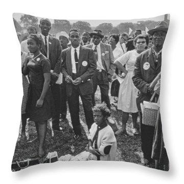 The March On Washington  Washington Monument Grounds Throw Pillow