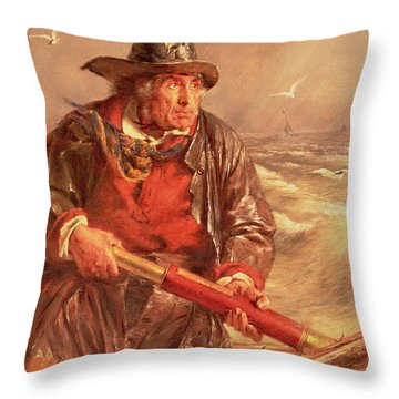 The Mariner Throw Pillow by Erskine Nicol