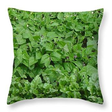 The Market Garden Portrait Throw Pillow