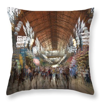 Throw Pillow featuring the photograph The Market Hall by Alex Lapidus
