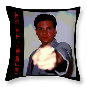 The Marksman - Point Blank Throw Pillow
