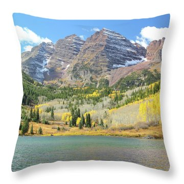 The Maroon Bells 2 Throw Pillow by Eric Glaser