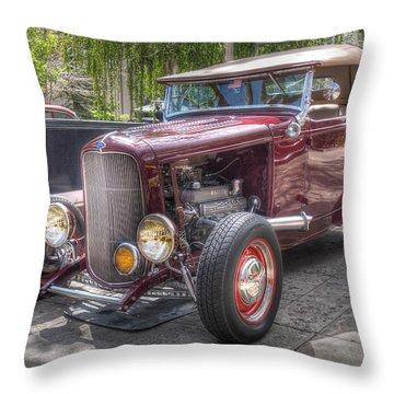 Maroon T Bucket Throw Pillow