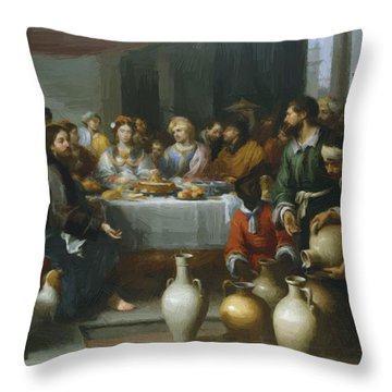 The Marriage Feast At Cana Throw Pillow