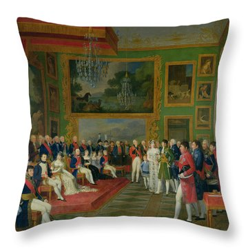 The Marriage Of Eugene De Beauharnais Throw Pillow by Francois Guillaume Menageot