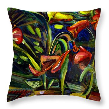 Throw Pillow featuring the painting The Marriage Of Figaro Floral Aria by Charlie Spear