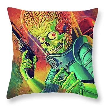 The Martian - Mars Attacks Throw Pillow