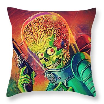 The Martian - Mars Attacks Throw Pillow by Taylan Apukovska