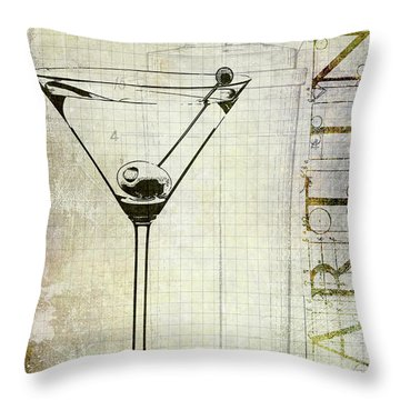 The Martini Throw Pillow